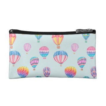 Hot Air Balloon Pattern Cosmetic Bag