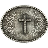 Montana Silversmiths Cross Antiqued Buckle