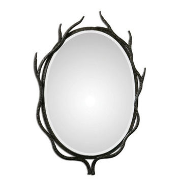Uttermost Esher Oval Metal Mirror - 07680