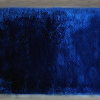 Machine Washable Faux Sheepskin Area Rug 4' x 6' - Lapis Blue