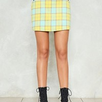 So Fancy Check Mini Skirt