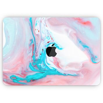 "Marbleized Teal and Pink V2 - Skin Decal Wrap Kit Compatible with the Apple MacBook Pro, Pro with Touch Bar or Air (11"", 12"", 13"", 15"" & 16"" - All Versions Available)"