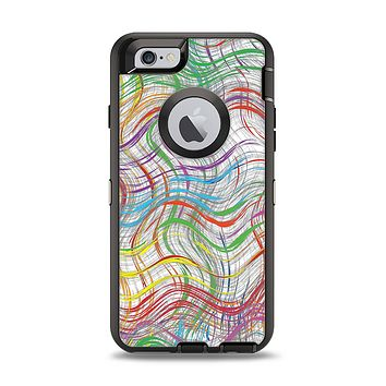 The Abstract Woven Color Pattern Apple iPhone 6 Otterbox Defender Case Skin Set