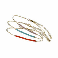 Facet Bead Bracelet Pack - Orange