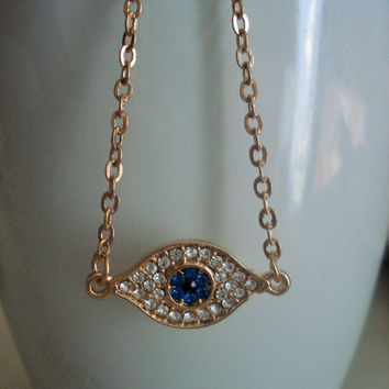Shop Evil Eye And Cross Necklace on Wanelo 4f9dc5b841