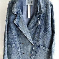 acid wash denim jacket from mancphoebe