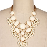 GoldIvory Bubble Necklace Set