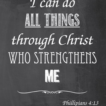 Inspirational Chalk Art - I Can Do All Thangs - Printable Instant Download - jpg files