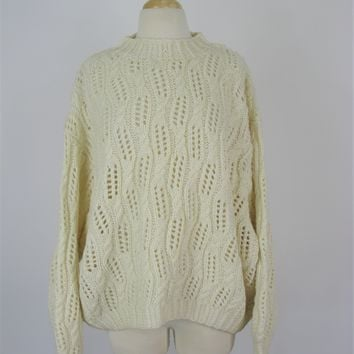 Express Handknitted International Chunky Sweater L