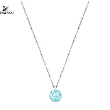 Swarovski Light Blue Crystal POINTS OF LIGHT Pendant Necklace #5144946