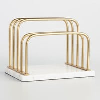 Marble and Gold Metal Maxwell Letter Holder