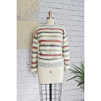 Vintage Chunky Knit Stripe Sweater