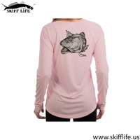 LADIES SHIRTS--Skiff Life Chris White Art Collection-Long Sleeve Performance Shirt