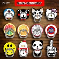 Universal 360 Degree Rotating Phone Stent 3D Cartoon Mobile Phone Accessories Holder Stand Finger Ring Stent For All Smart Phone