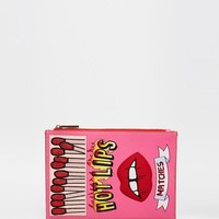 Skinnydip | Skinnydip 'Hot Lips' Novelty Clutch Bag at ASOS