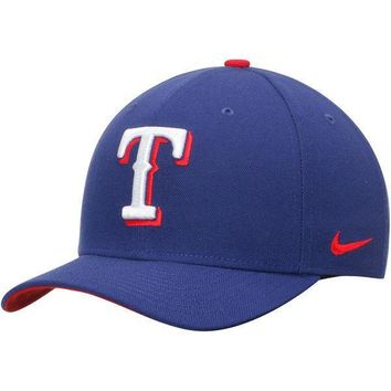 Mens Texas Rangers Nike Royal Wool Classic Adjustable Dri-FIT Hat