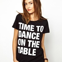 Essentiel Antwerp Time to Dance on the Table Tee at asos.com
