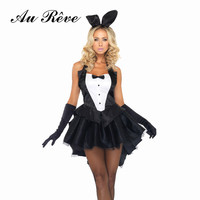 Sexy Black Bunny Girl Halloween Costume