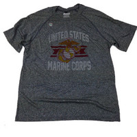 Marines Grey Technical T-Shirt - Made in U.S.A.