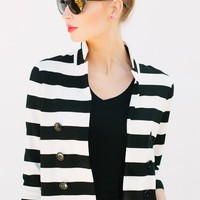 Sophie Striped Jacket - Blazers  - Shop