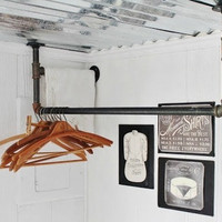 Deluxe Pipe Clothing Rack - Ceiling
