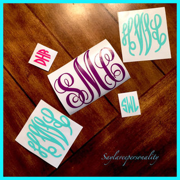 Fun monogramned rain boot decals 4 inch master circle font
