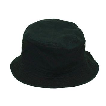 Men Women 100% Cotton Fishing BUCKET HAT CAP Boonie Brim visor Sun Safari BLACK
