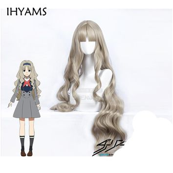 DARLING in the FRANXX Code 556 KOKORO Cosplay Wig Long Wavy Curly Synthetic Hair + Wig Cap
