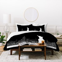 Restudio Designs New York Skyline 4 Duvet Cover