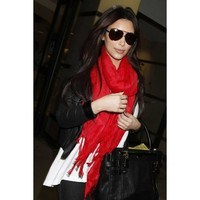 Love Quotes Scarf in True Love Red as seen on Kim Kardashian, Nicole Richie & Others