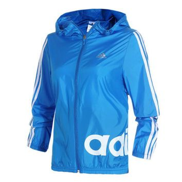adidas fashion hooded zipper cardigan jacket windbreaker