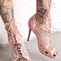 Heartthrob Lace-Up Heels