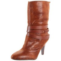 Nine West Women`s Beverlyann Ankle Boot,Brown/Medium Brown Fabric,9 M US