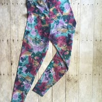 Vintage Gear1 High waisted Acid Wash tye Dye Leggings