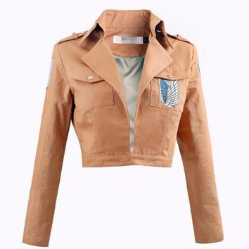 Cool Attack on Titan Hot Sale Anime  Giant On  Cosplay Costume No  Uniforms Japanese Coat Women Men Adults Jacket AT_90_11