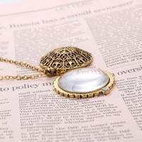 Magnifier Pendant Necklace Magnify Glass Reeding Decorativ Monocle Necklace