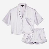 Satin Shirt and Shorts Pyjama Set | Topshop