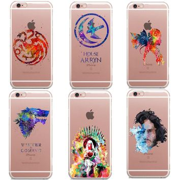 Clear Game Of Throness Phone Case For iPhone 6 6S 7 7Plus 5 5s SE 8 8Plus I AM NOT A PRINCESS I'M A KHALEESI Soft For iPhone X