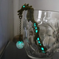 Glow In The Dark Dragon Bookmark