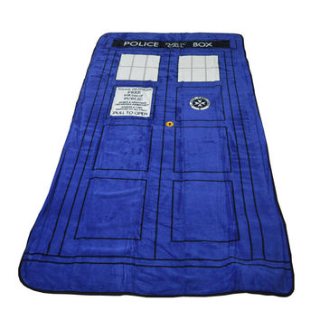 Doctor Who Dr TARDIS Police Call Box Throw Blanket Fleece Tyler Martha Jones Martha Jones Donna Noble Amy Pond Rory Willians