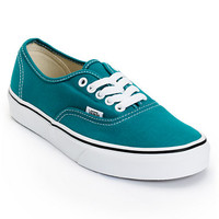 Vans Women's Authentic Deep Lake Teal Shoe