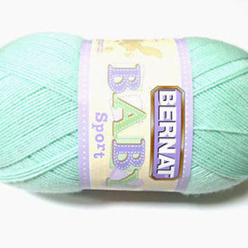 Bernat Baby Sport Weight 3 Yarn Baby Mint Green Large Skein