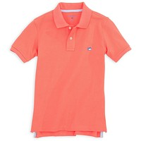 Boy's Skipjack Polo in Nautical Orange by Southern Tide