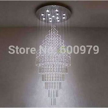 Modern Glass Ceiling Lamp Crystal Chandelier Lighting Fixture