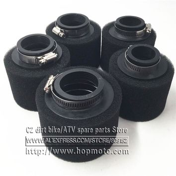 Black Straight Neck Foam Air Filter 35mm 38mm 42mm 45mm 48mm  Sponge Cleaner Moped Scooter CG125 150cc Dirt Pit Bike Motorcycle