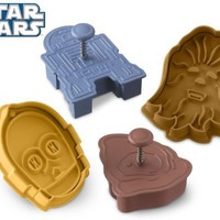 Star Wars Press-and-Stamp Cookie Cutters, Set of 4 Droids and Aliens: R2-D2, C-3PO, Jawa and Chewbacca