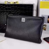 GIVENCHY MEN'S NEW STYLE LEATHER ZIPPER HAND BAG