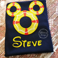 Cruise Life Preserver Mouse Custom embroidered Disney Inspired Vacation Shirts for the Family!
