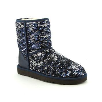 Womens UGG® Classic Short Boots, Navy Sparkle, at Journeys Shoes