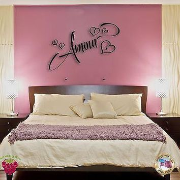 Wall Sticker For Bedroom Amour Love Romantic Cool Decor  Unique Gift z1377